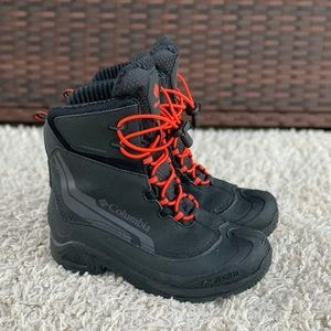 Columbia Youth Bugaboot IV Waterproof Bungee Laces Mid Winter Boots Kid's 6 EUC